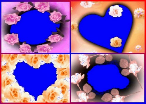 Подборка футажей - рамок с цветами на хроме