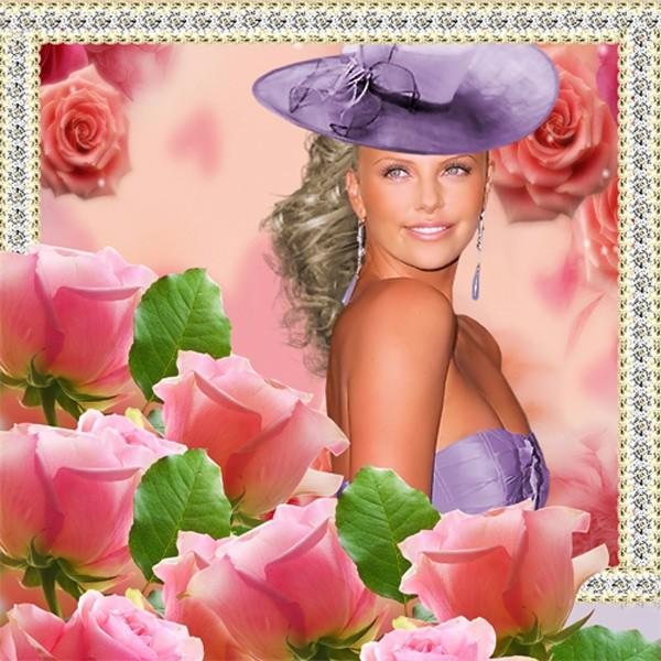 Рамка женская - Жизнь в розовом цвете