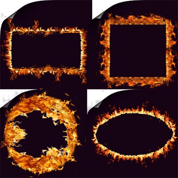 Клипарт - Огненные рамочки