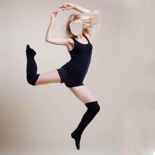 Шаблон для фотошоп - Прыжок в танце