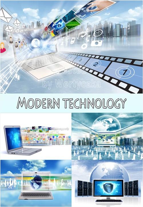 Современные технологии беспроводной связи - растровый клипарт
