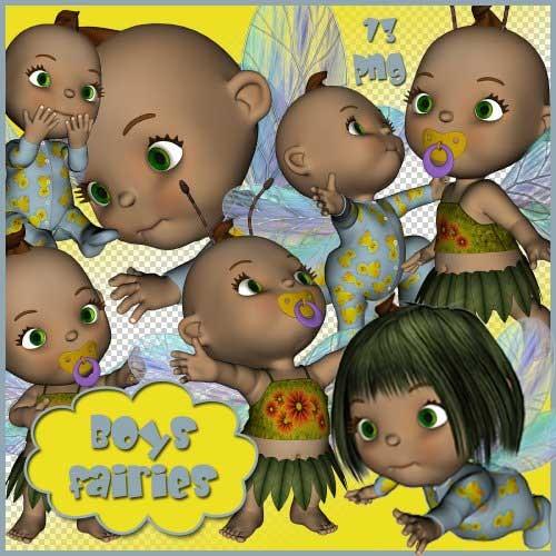 Детский скрап-набор - Boys fairies