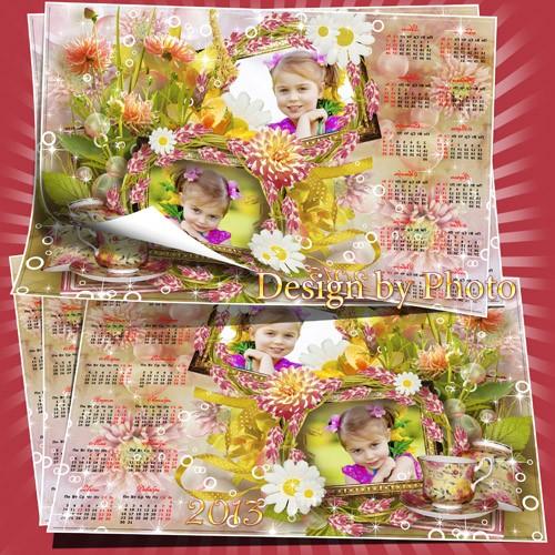 Цветочный календарь на 2013 год - Сказка