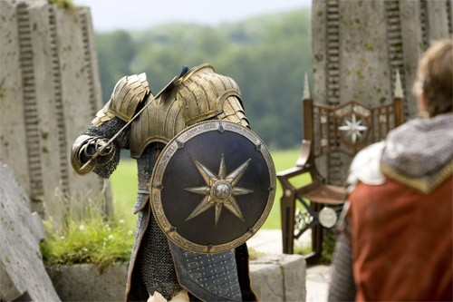 Шаблон для фотошопа - Бой рыцаря в доспехах