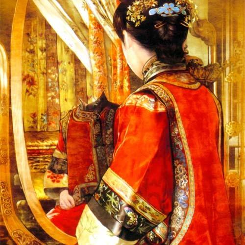 Шаблон женский - В национальном китайском костюме
