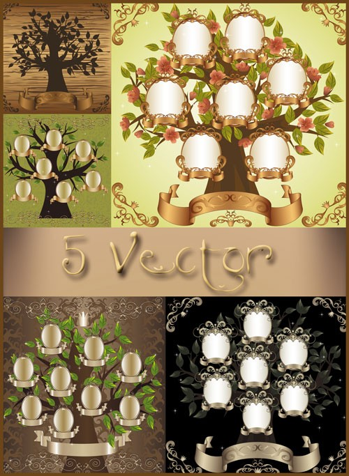 Семейное дерево - векторный клипарт