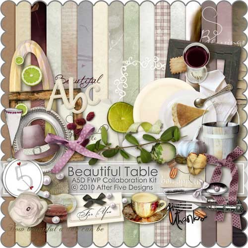 Кухонный скрап-набор - Прекрасный стол