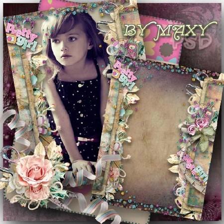 Красивая детская рамка - Гламурная принцесска
