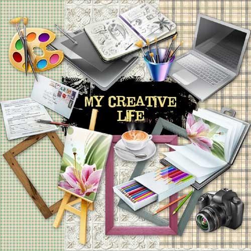 Творческий скрап-набор - Моя творческая жизнь