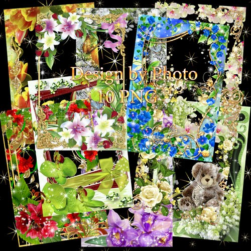 Набор цветочных рамок для фото - Искушение