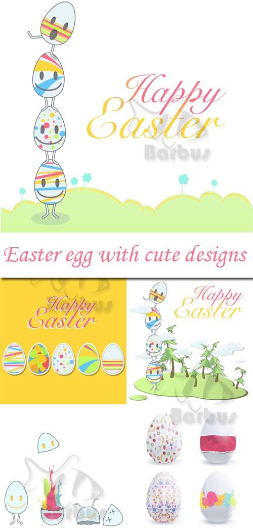 Easter egg with cute designs / Пасхальные яйца с забавным дизайном
