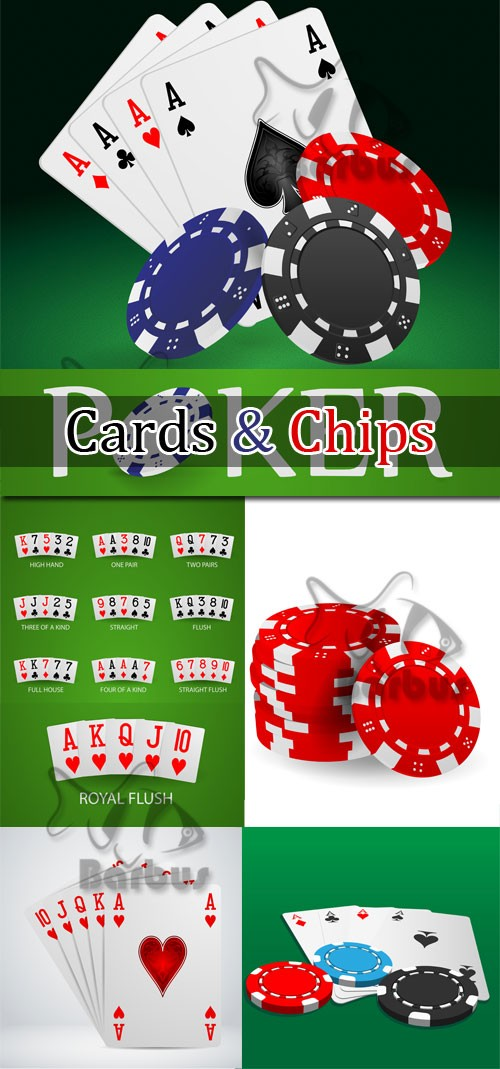 Poker cards and chips / Покер - карты и фишки - Vector stock