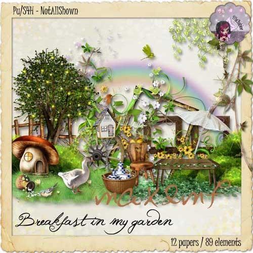 Летний скрап-набор - Завтрак в саду