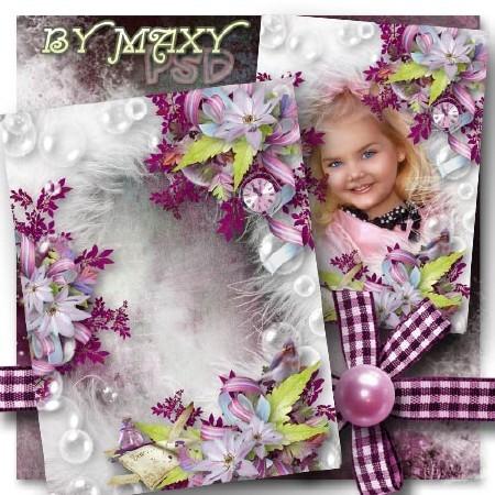 Рамка для фото девочек - Письмо дорогой маме