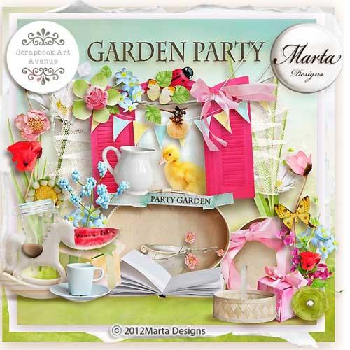 Праздничный скрап-набор - Вечеринка в саду