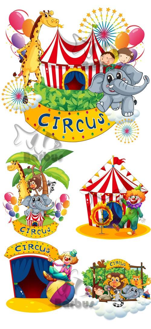 Bright circus / Яркий цирк - Vector stock