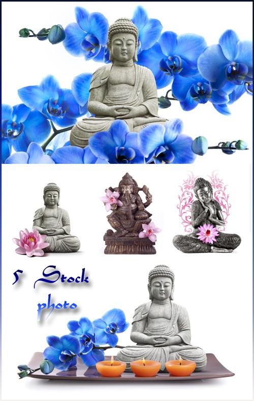 Буддизм в Китае, статуэтки и символика - растровый клипарт