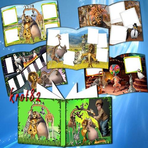 Фотоальбом с героями мультфильма – Мадагаскар