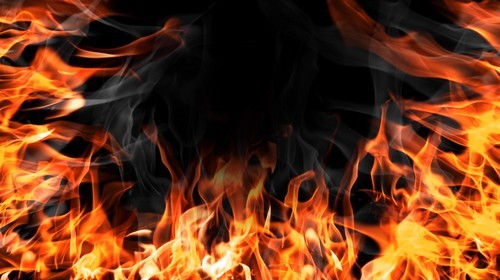Футаж - Игра с огнём