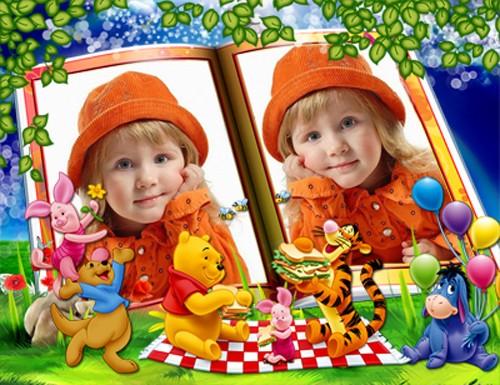 Детская фоторамка - Винни и компания