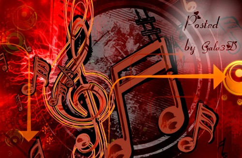 Музыкальный PSD Исходник