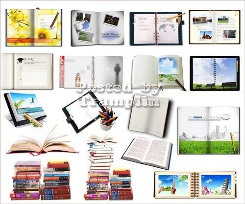 Исходники для Photoshop -  Книги, блокноты, подставки, телефонная книга
