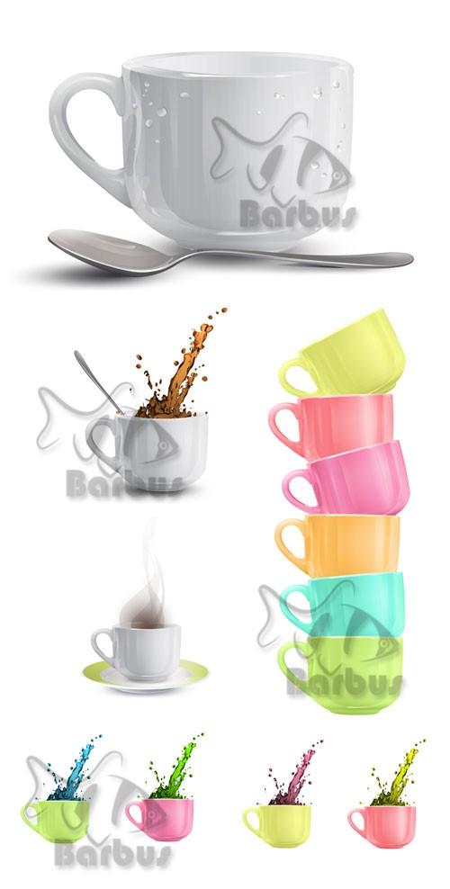 Cup with coffee splashes / Чашка с брызгами кофе