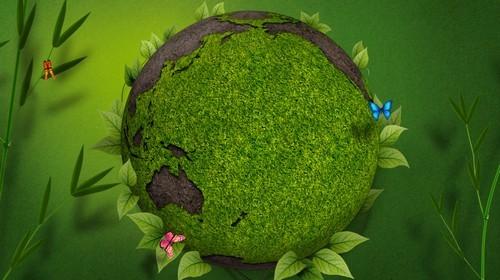 Футаж - Зеленая планета Земля