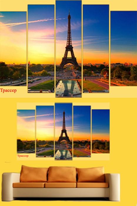 Полиптих в PSD формате - Восход в мегаполисе