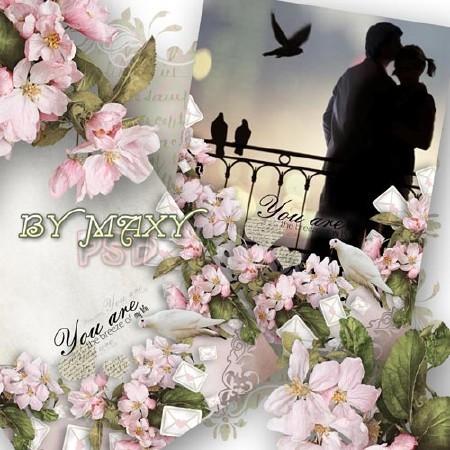 Рамка PSD любовь - Шепот ветра