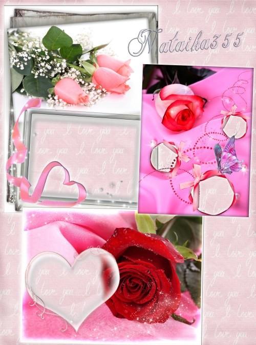 Рамки с цветами - Прекрасные розы, как осколки звезд