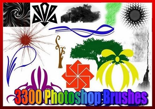 Большой сборник кистей для кистей для Photoshop (3300)