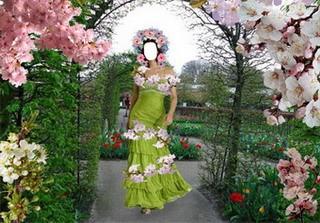 Шаблон Девушка-весна