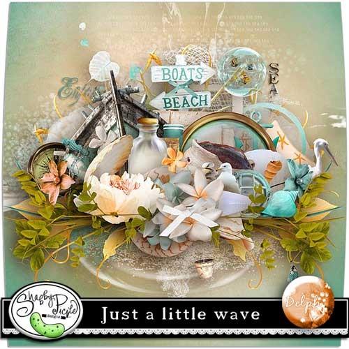 Морской скрап-набор - Просто маленькие волны