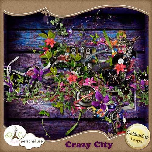 Музыкальный скрап-набор - Чокнутый город