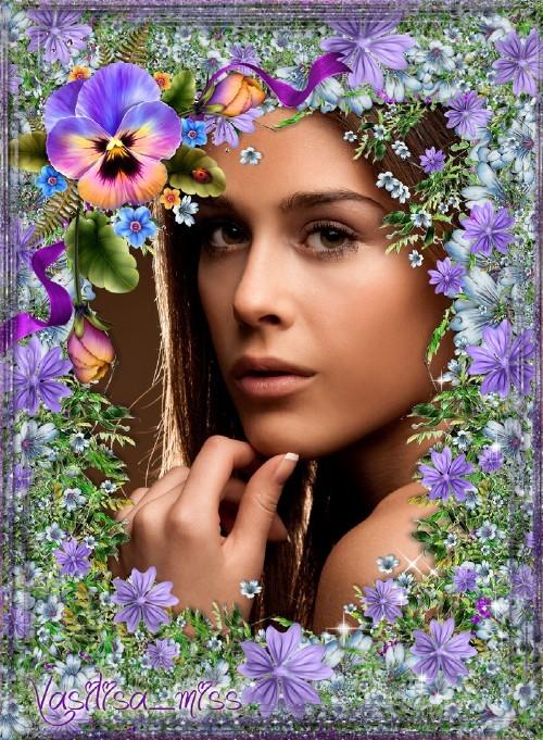 Цветочная рамка - Цветики, цветочки