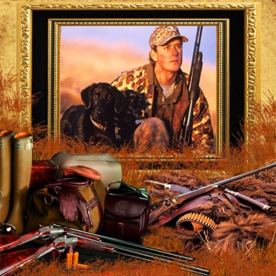 Рамка мужская - Охотничья