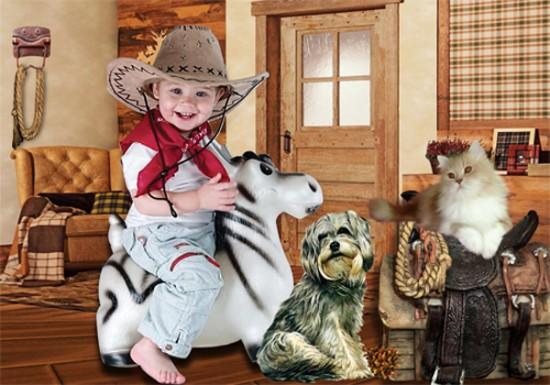 Шаблон  детский -  Босоногий ковбой