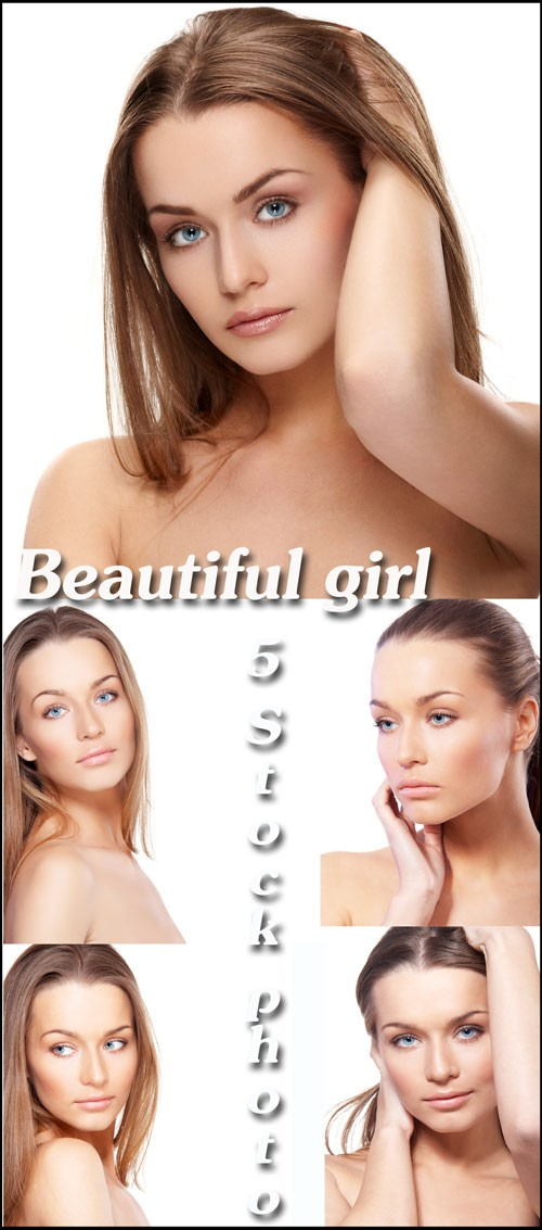 Обаятельная девушка с длинними волосами - растровый клипарт