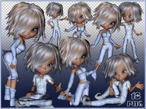 Детский 3D скрап-набор - Куколка