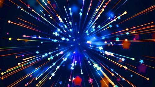 Футаж - игристые полосы со звёздами