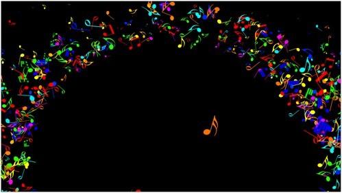 Футаж для оформления музыкальных конкурсов