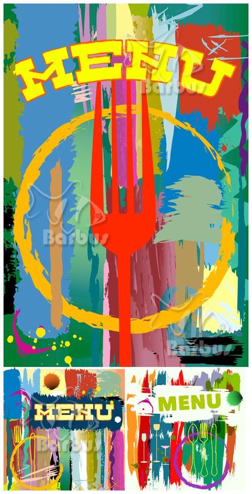 Menu card design -  vintage style / Обложка меню в ретро стиле