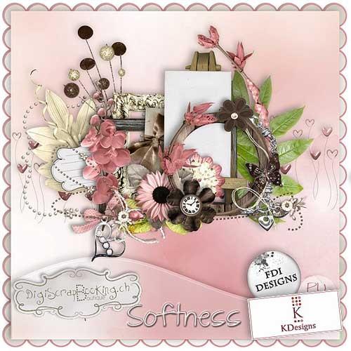 Цветочный скрап-набор - Нежность