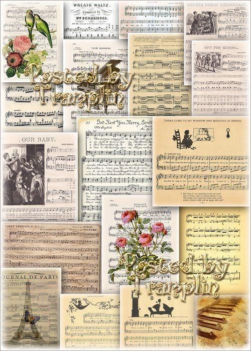 Музыкальные фоны – Нотные листы