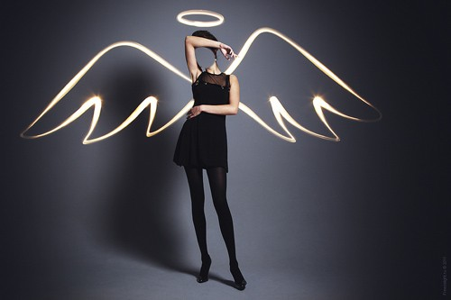 Шаблон женский - Девушка с крылышками