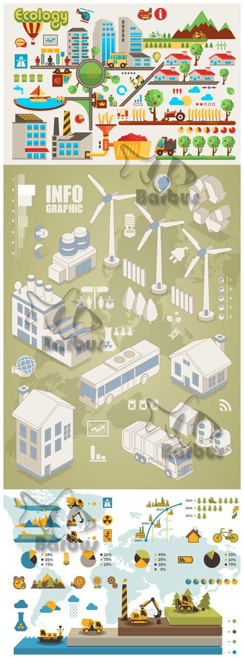 Industrial and ecology info graphic / Индустриальная и экологическая инфо г ...
