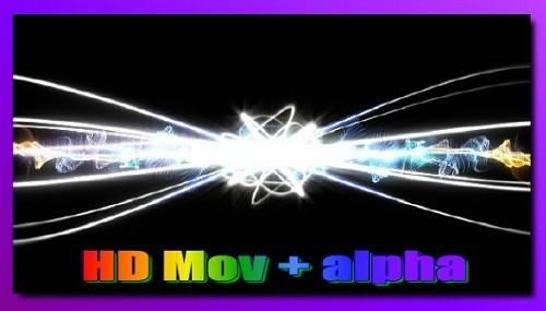 Футаж Световые потоки HD (alpha)
