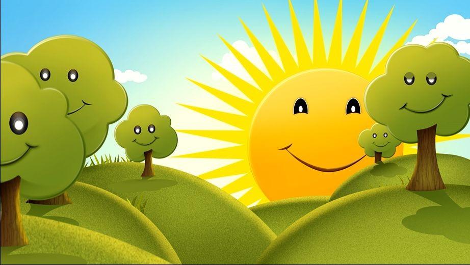 Раскраски солнышко улыбается
