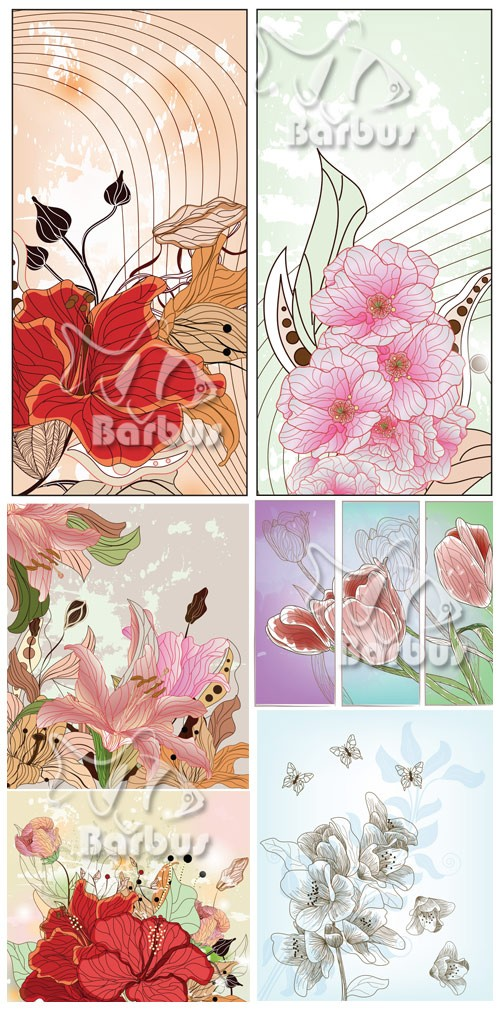 Vintage floral 2 / Винтажные цветы